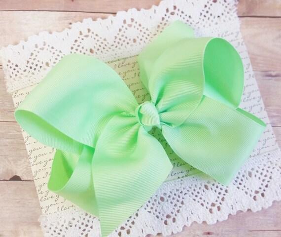 Mint Large Bow, Toddler Mint Headband, Large Hair Bow, Teen Hair Bows, Hair bow For Babies, Big Bows, Hair Bow Clip, Hair Clips For Babies