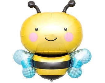 """36"""" BUMBLE BEE balloon. bumble bee Party Decor. baby party. gender reveal party. bee balloon. bumble bee. bee party. baby shower balloons"""