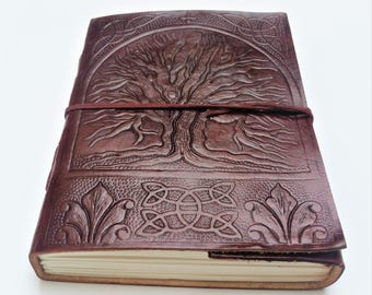 Tree of Life Leather journal, Journal, Leather Journal, Notebook, Diary, Sketchbook, diary.