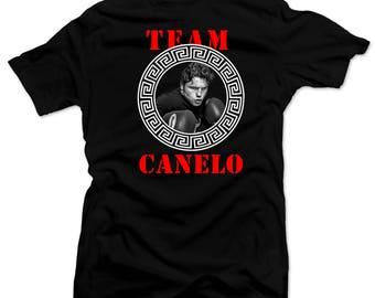 Saul el Canelo  Team Canelo Mens shirt  Boxing Tee Black