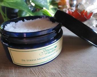 Body Scrub, De-Stress Aromatherapy Sea Salt Scrub 8 oz., Exfoliant, Salt Scrub, Body Polish, Sea Salt Scrub, Vegan