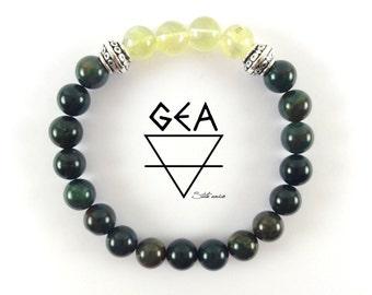 Green Bloodstone Bracelet-Heliotrope & Prehnite Bracelet