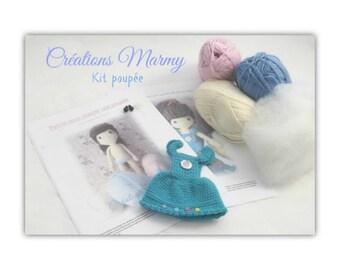 ENSEMBLE et accessoire patron poupée KIT pattern doll