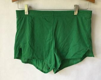 Vintage Green Running Shorts - Size Small Medium