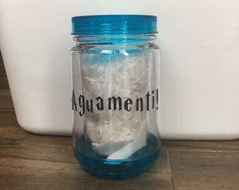 Aguamenti! // Harry Potter Tumbler // Water Bottle //  READY TO SHIP
