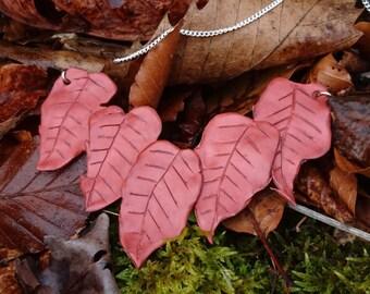 Fallen leaves necklace