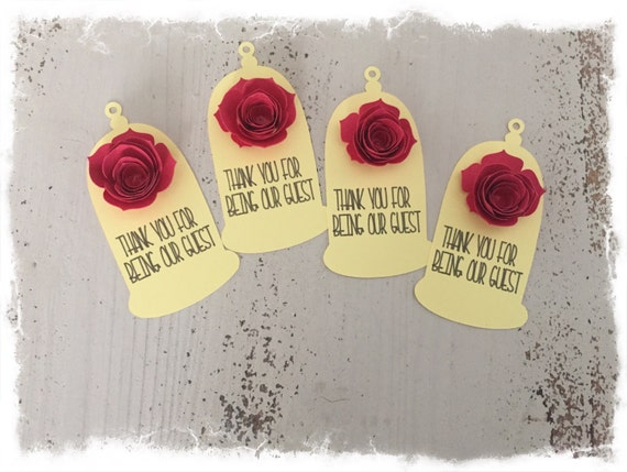 Captivating Beauty And The Beast Be Our Guest Customizable Tags Birthday