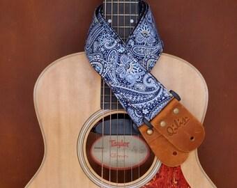 Blue Phathong Thai Style Guitarstrap