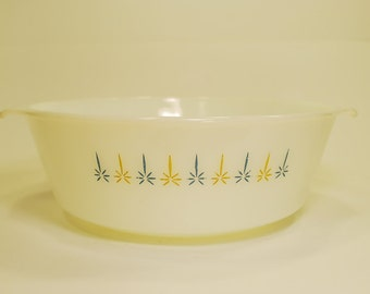 Vintage Anchor Hocking Fire King Candle Glow Casserole Dish 3QT