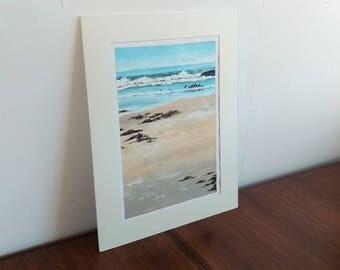 Shipwreck oil painting Tasmanian beach original art by Mel Andrewartha