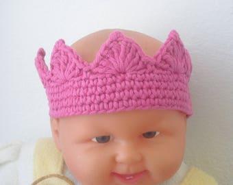 Crown-Birthday crown-girl crown-crochet crown-handmade-baby photography-ku 38-41 cm