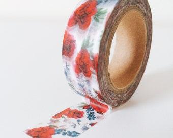 Pretty rose garden washi tape