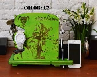 Harley Quinn Print Docking Station Suicide squad DC comics harley quinn home decor harley harley quinn design harley quinn wood sign gift