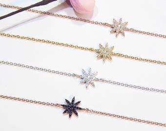 Little Star Bracelet Cz 925 Silver Yellow Rose Gold