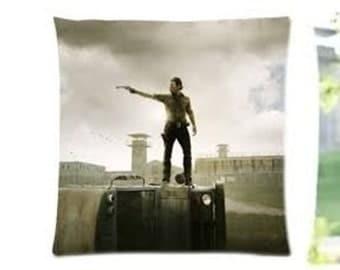 The Walking Dead Rick Grimes Daryl Dixon Pillowcase Cushion Cover Zombie cult fan gift