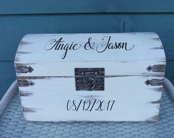 Card Box for Wedding, Wedding Card Box, Rustic Card Box, Spring Wedding Box, Rustic Card Trunk,  Custom Card Box, Keepsake Box, Card Box