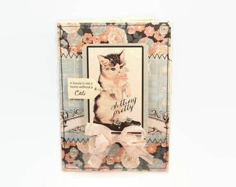 New Cat Card, New Kitten Card, New Pet Card, Cat Lover Card, Pet Adoption Card, Vintage Style Card, Retro Cat Card, Cottage Chic, Shabby