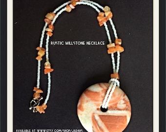 Rustic Millstone Necklace