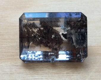 50% OFF HUGE  Dendritic Quartz Emerald Cut Loose Gemstone Natural Untreated Gem 25x18mm 45.1ct Wholesale Pricing A358