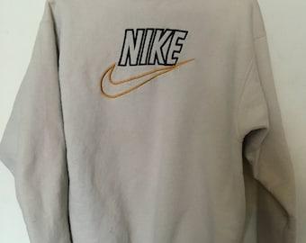 Vintage tan Nike sweatshirt pullover Large