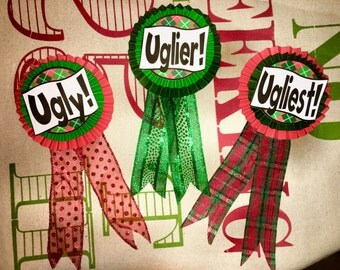 Ugly! Uglier! Ugliest! Ugly Sweater Ribbons