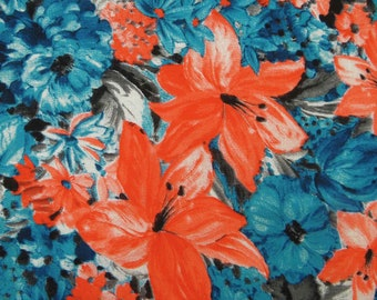 "Apparel Fabric, Floral Print, Upholstery Fabric, Sewing Accessories, Quilting Fabric, 42"" Inch Cotton Fabric By The Yard ZBC7516B"