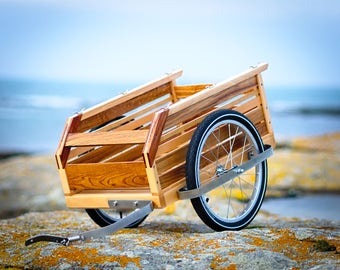 wooden bicycle trailer