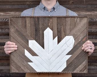 Quartz Crystal Wood Mosaic Art