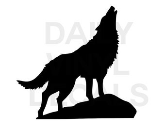 Howling Wolf Decal Etsy