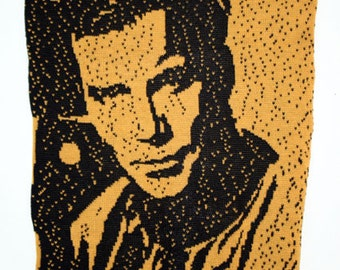 Knitted Captain Kirk Poster Star Trek