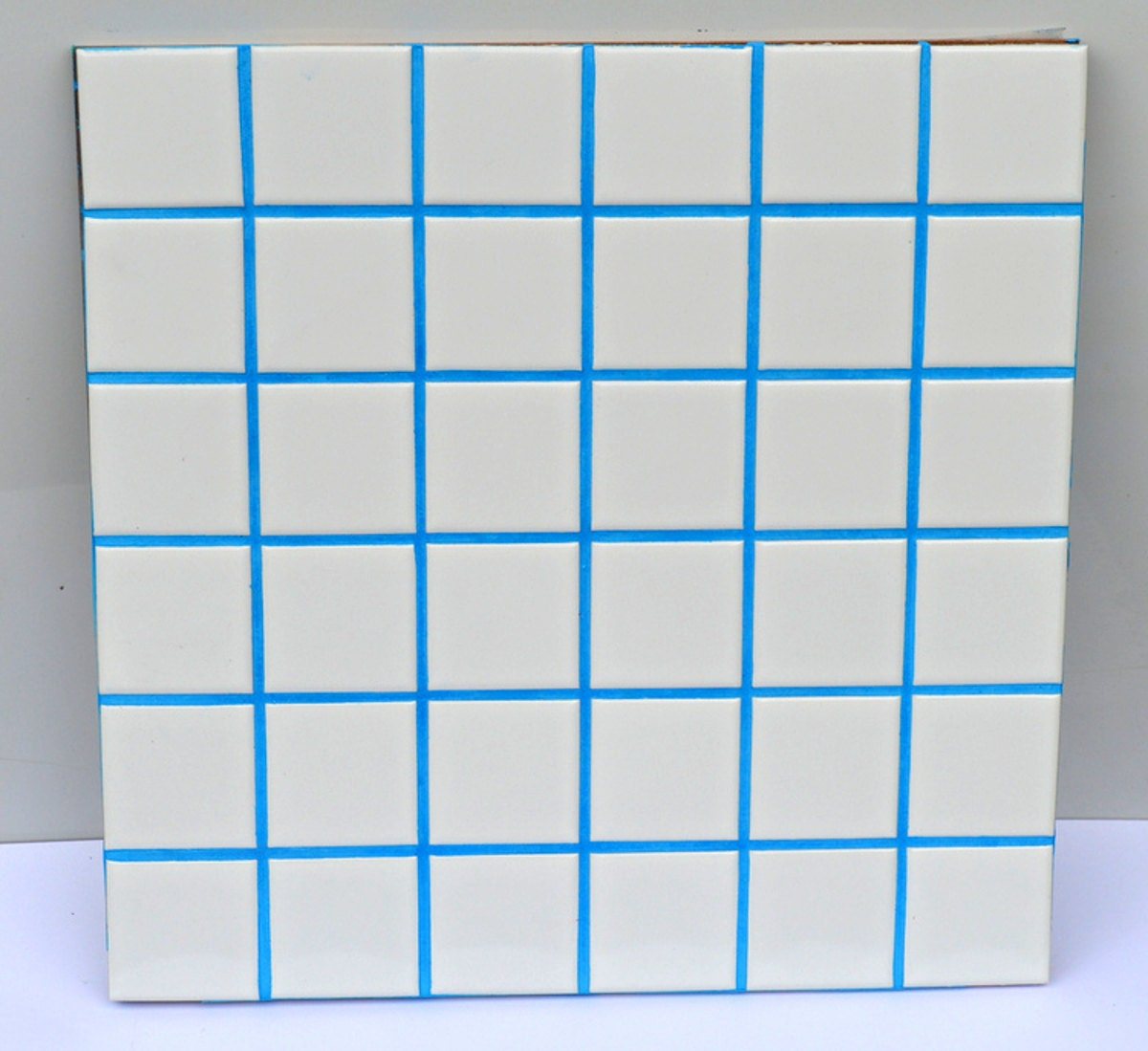 Sky blue unsanded grout with pigment added free shipping for How to make grout white again