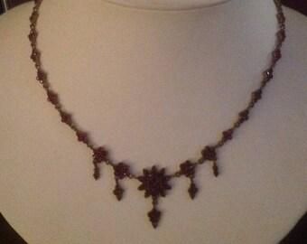 Antique Victorian Bohemian Garnet Necklace...Circa 1890...EXQUISITE!