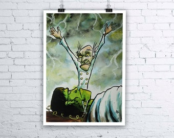 It's Aliiiiiiiive! - Original Halloween Frankenstein Universal Monsters Painting