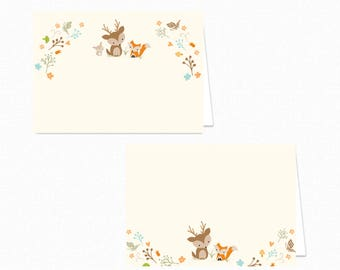 Woodland Food Tent Labels - Woodland Food Tents - Printable Party Food Labels - Woodland Place Cards - Woodland Fox