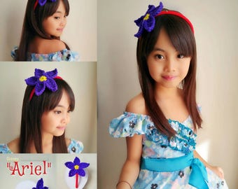 Ariel headband, ariel tiara, disney tiara headband, ariel hair accessories, princess tiara,little mermaid headband, princess costume, ariel