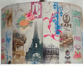 French Effiel Tower,Paris, Roses Lampshade available for Table or Ceiling