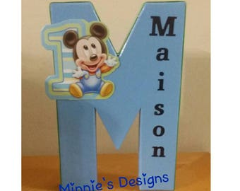 Baby Mickey 1st birthday, Baby Mickey letters,Baby Mickey birthday shirt,Baby Mickey invites,Baby Mickey centerpiece,Baby Mickey babyshower