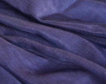 Navy Blue Silk Cotton Fabric