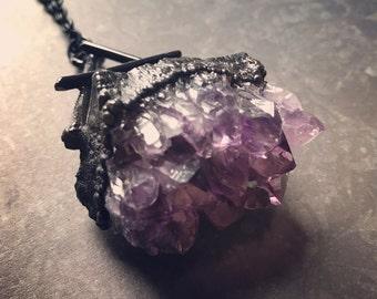 Air Element Symbol Necklace | Amethyst Necklace | Element Necklace | Wiccan Necklace | Witch | Pagan