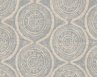 Round Tablecloth Atlas Geometric Swedish Blue
