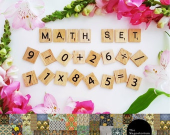 Scrabble Maths Magnet Set - 60 Piece