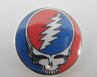 "Grateful Dead Pin Steal your face 1.5"" button"