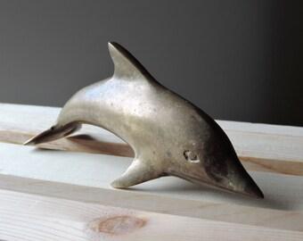 Brass Dolphin Sculpture