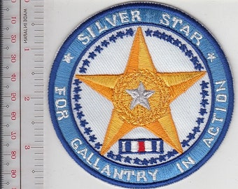 Silver Star Medal US Military ''For Gallantry in Action'' Patch