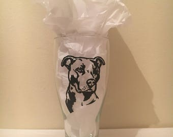 Pitbull Wine Glass or Pilsner Glass