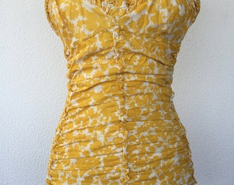 RESERVED**EMMAKONDRENVintage 1950s Jantzen floral Swimsuit
