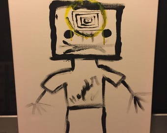 abstract self portrait by unknown artist