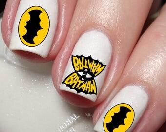 Batman Nail Art Sticker Water Transfer Decal 29