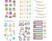 CELEBRATIONS Mini Planner Stickers | Mini Sized | Birthday | Credit Card Wallet Stickers | CC1. 1-12