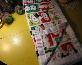 Very Soft Fleece Blanket - Snowman